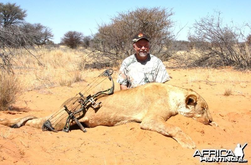 Lioness in the Kalahari!
