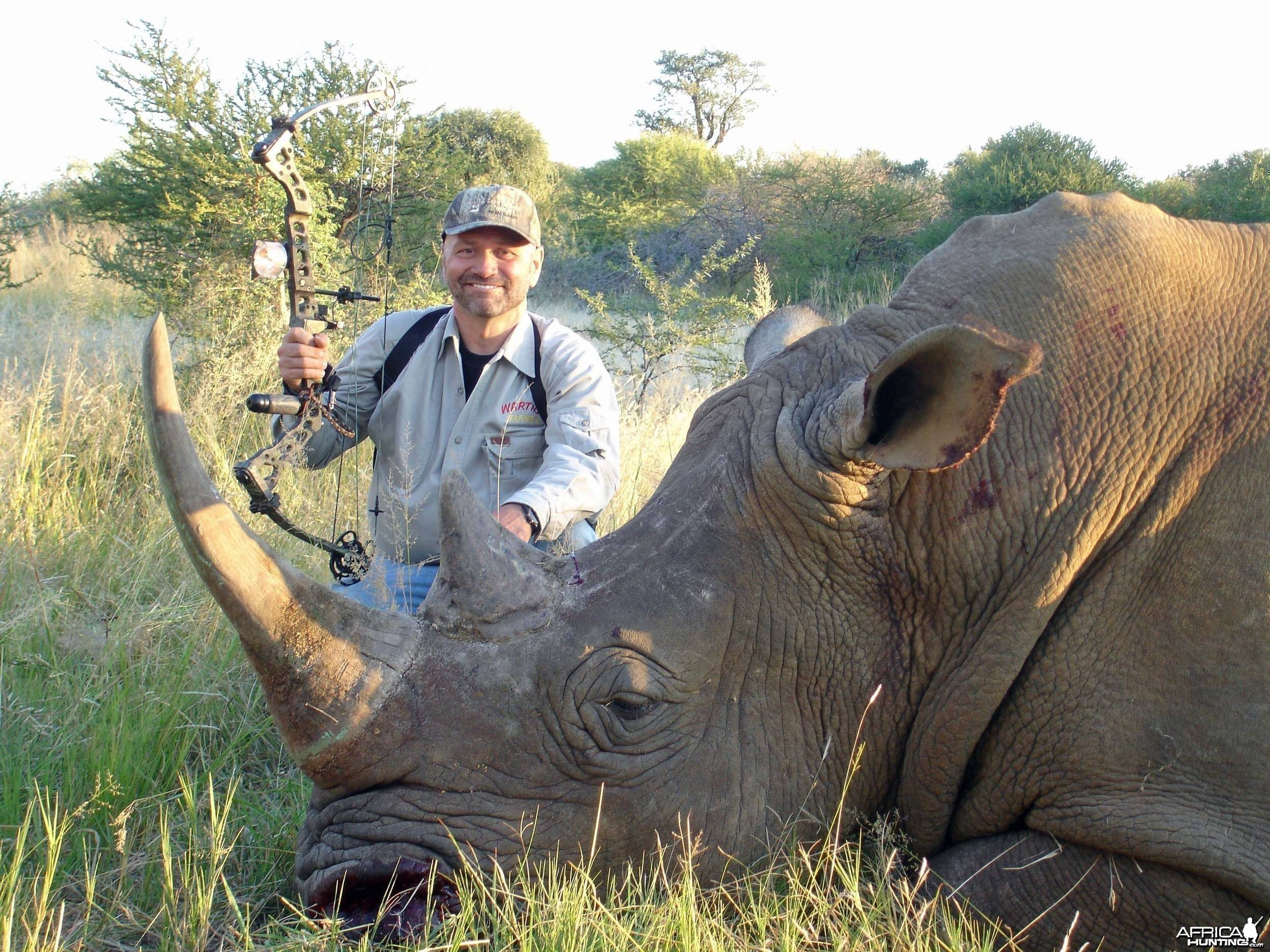 "26"" + Rhino shot S. Africa with Warthog Safaris"