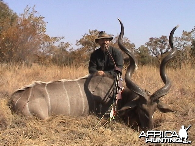 "58"" Kudu with Stick Bow, took with Warthog Safaris"