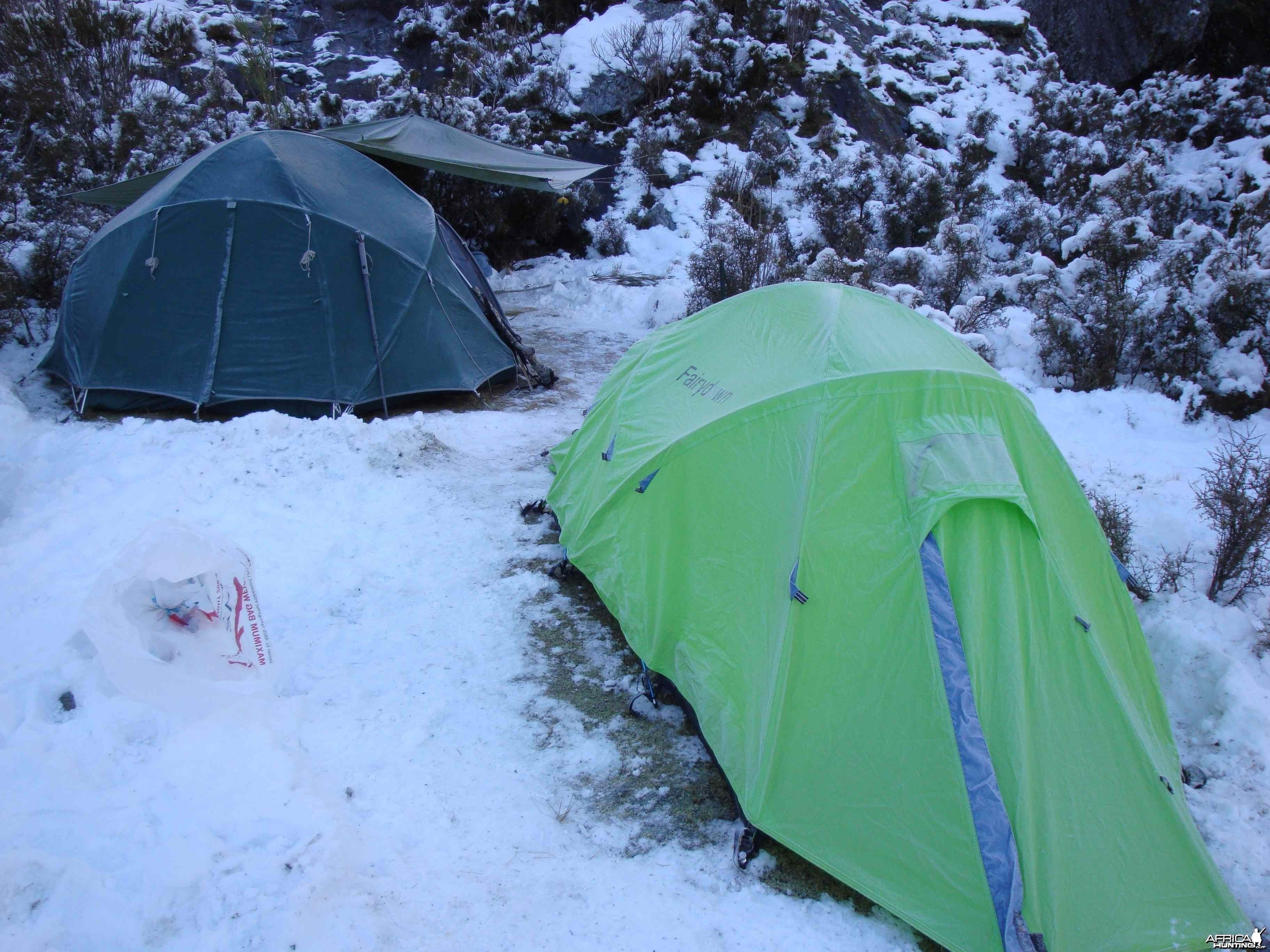 Very cold camp