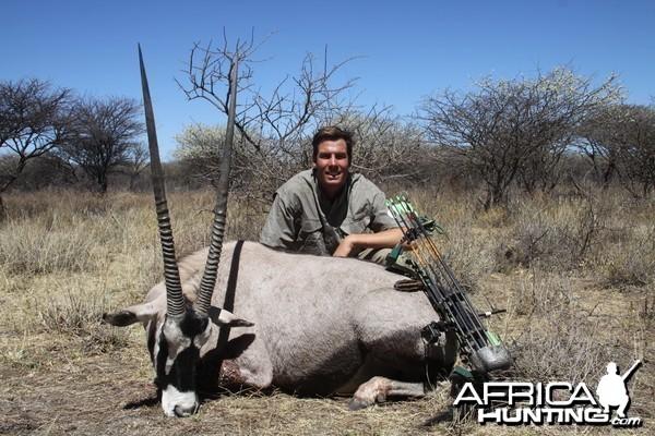 Bowhunting Gemsbok in Namibia