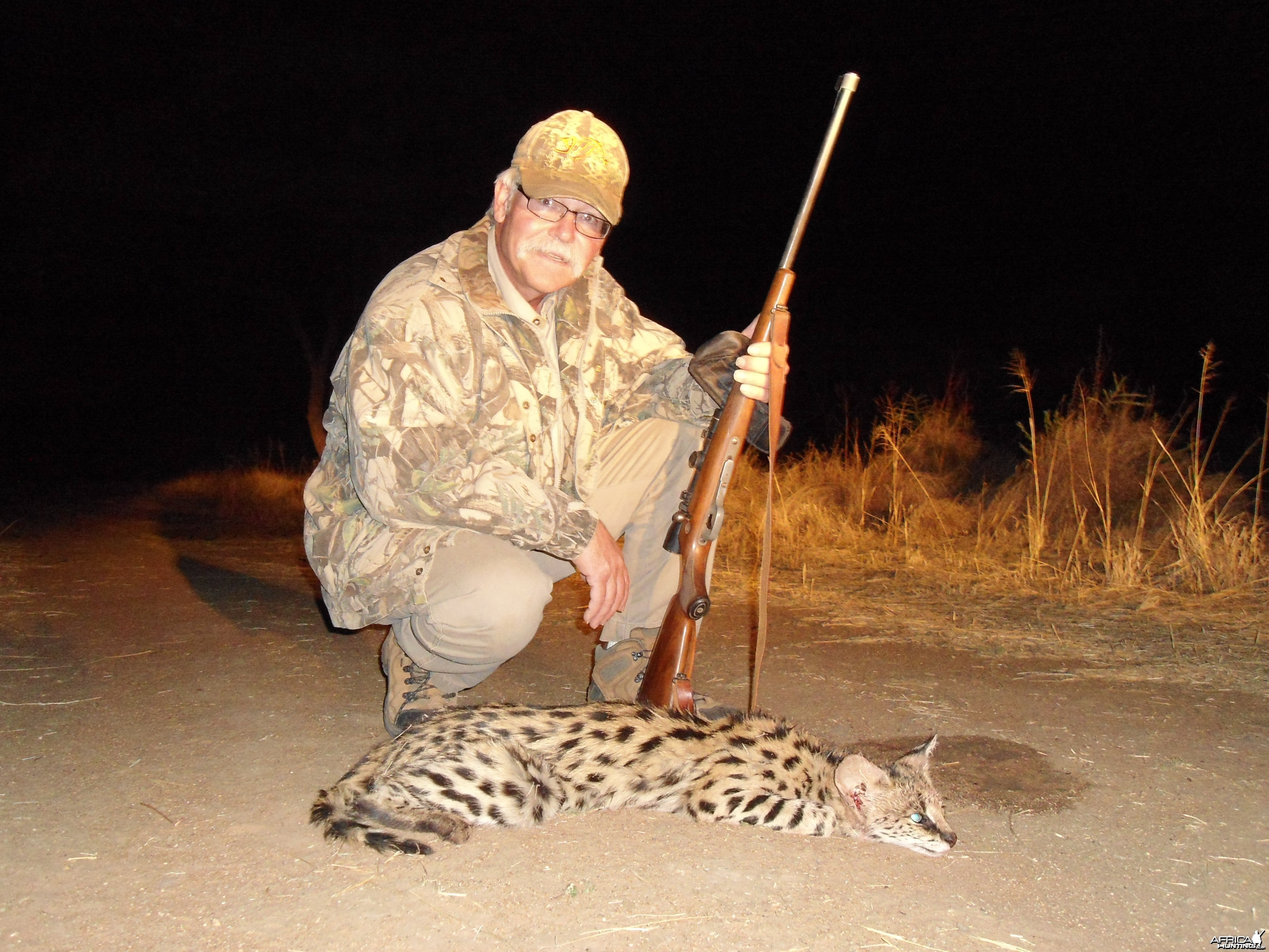 Hunting Serval in Namibia