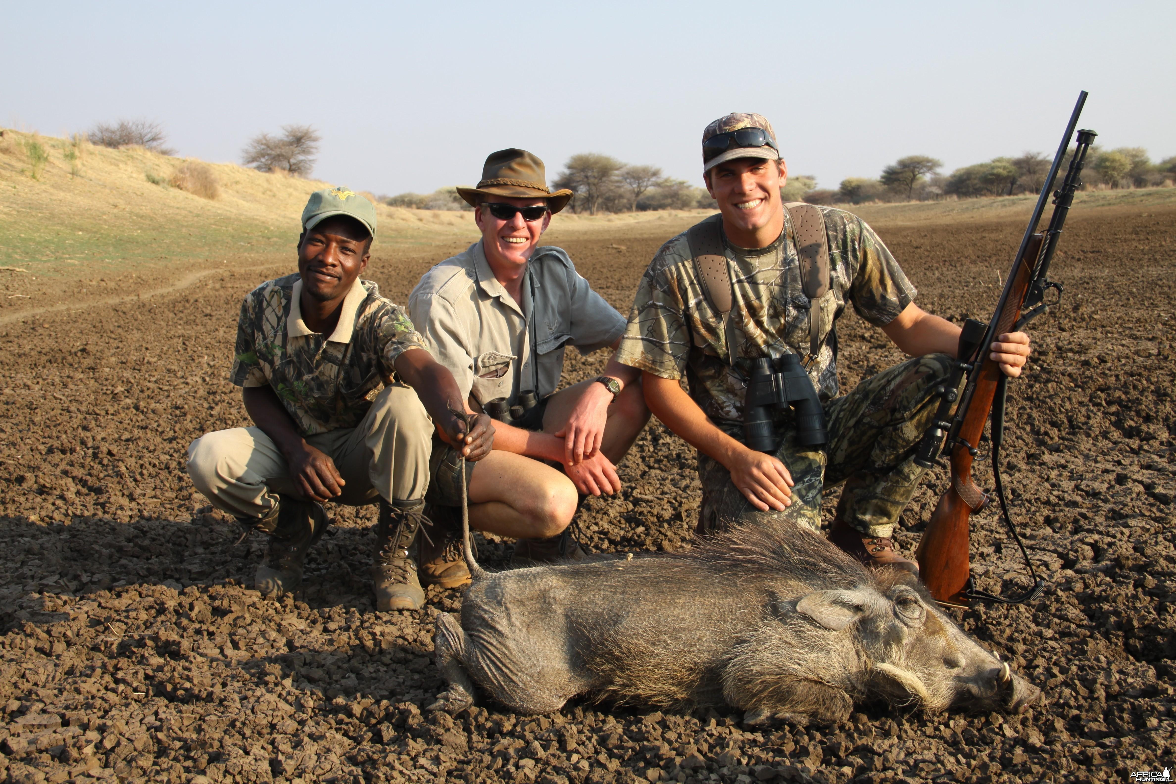 Hunting Warthog Cull in Namibia