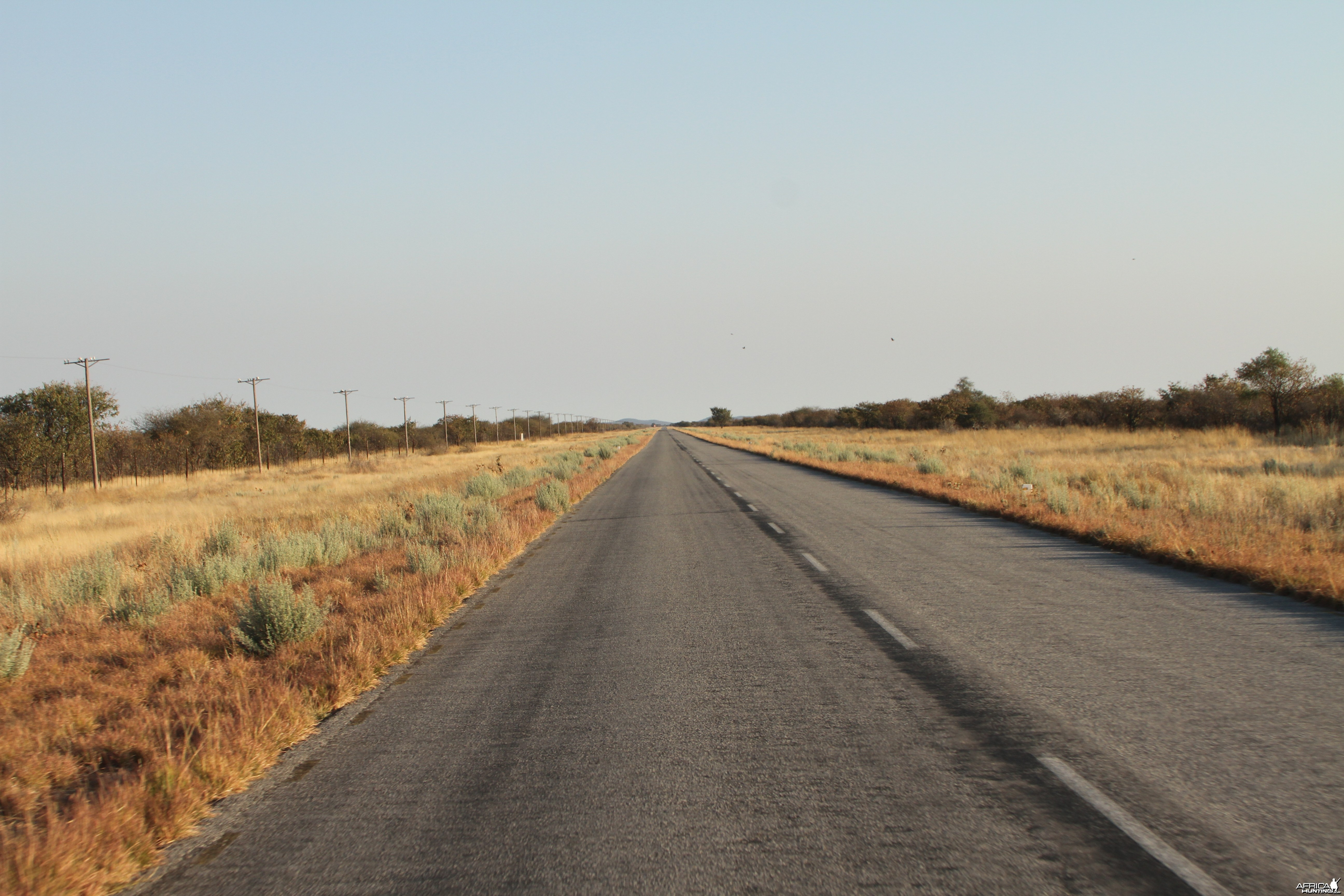 Road to Etosha National Park