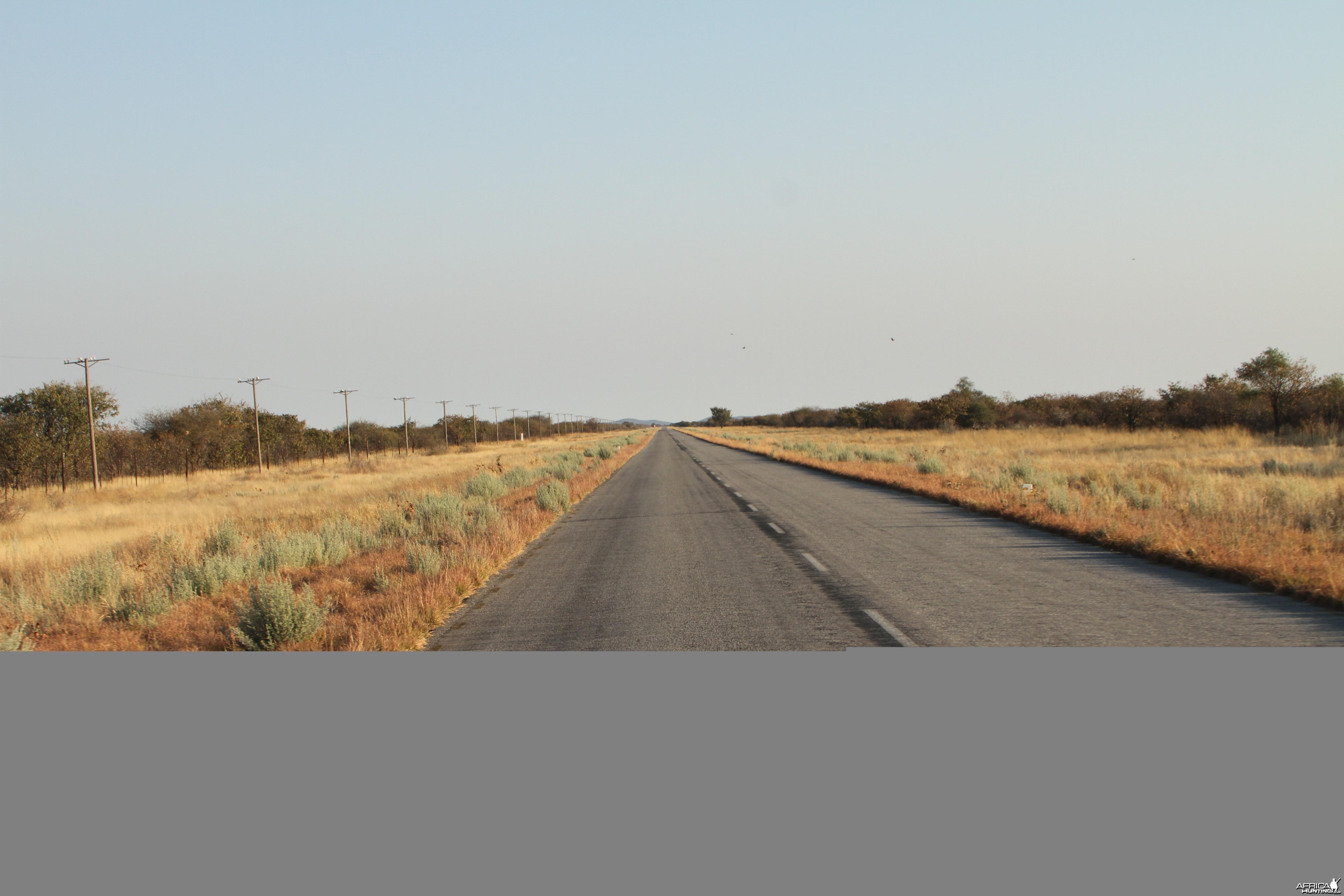 Road to Etosha National Park