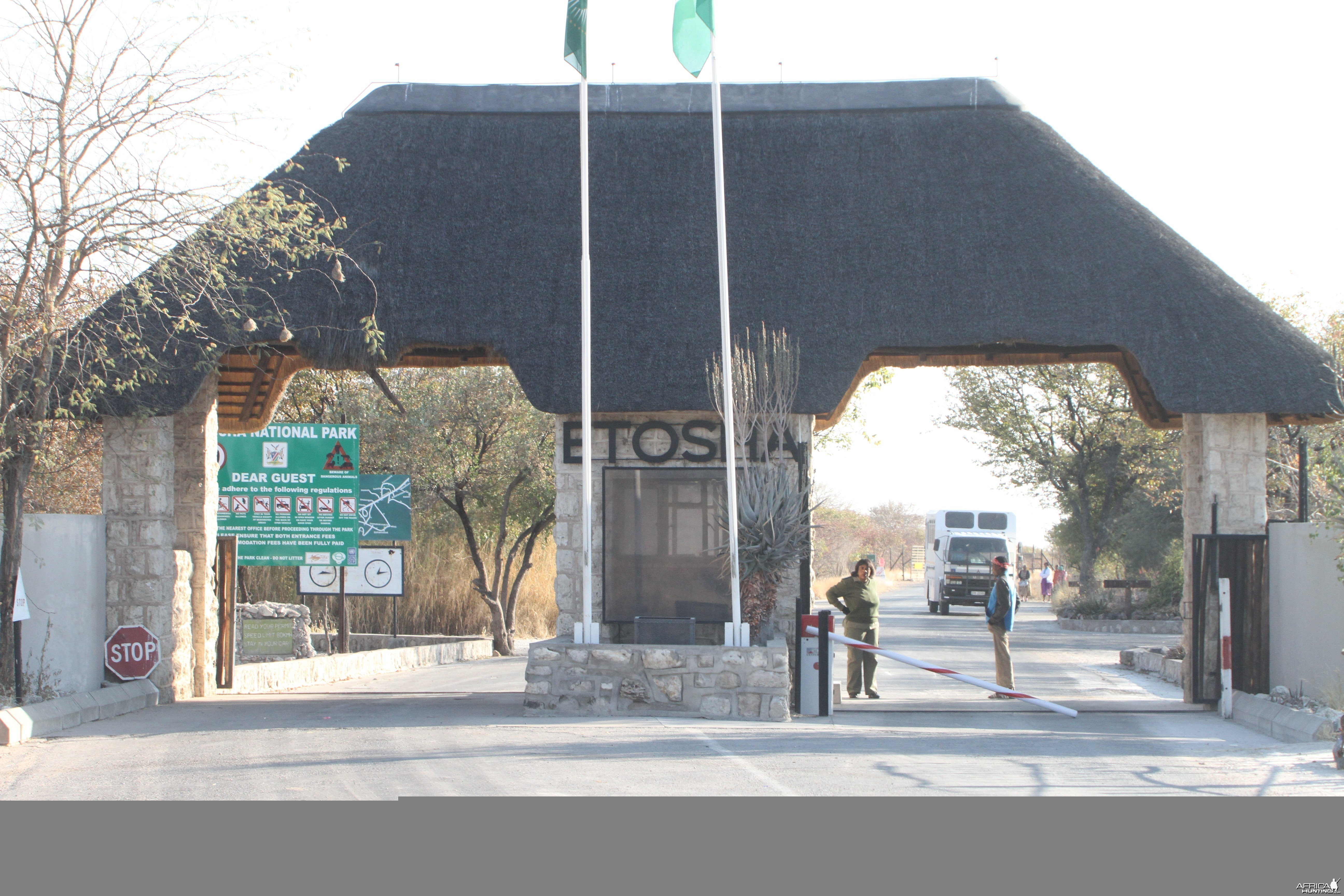 Entrance Etosha National Park
