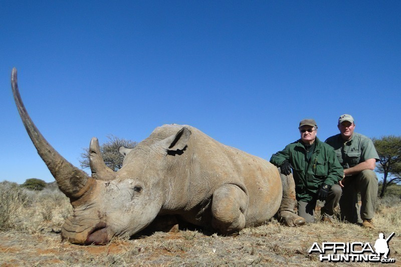 Rhino hunted with Wintershoek Johnny Vivier Safaris