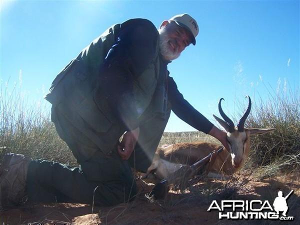 Springbok hunted with Wintershoek Johnny Vivier Safaris