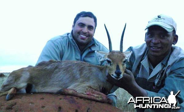 Steenbok hunted with Wintershoek Johnny Vivier Safaris