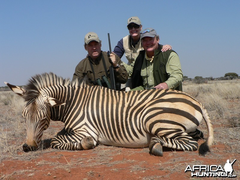 Hartmann's Zebra hunted with Wintershoek Johnny Vivier Safaris