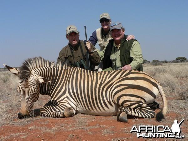 Hartmann's Zebra hunted with Wintershoek Johnny Vivier Safaris