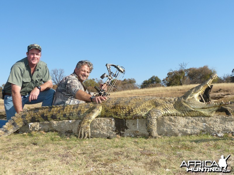 Croc hunted with Wintershoek Johnny Vivier Safaris