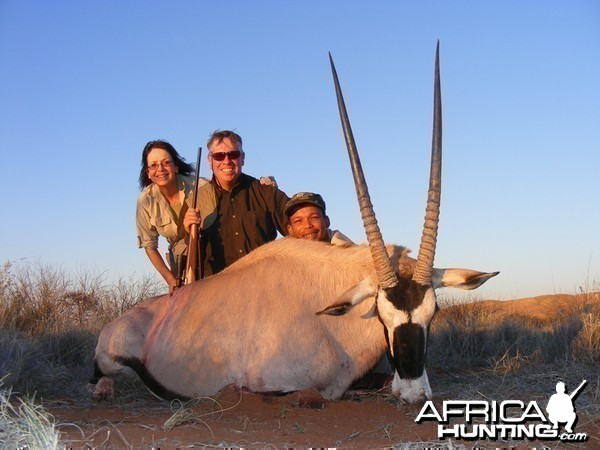 Gemsbok hunted with Wintershoek Johnny Vivier Safaris