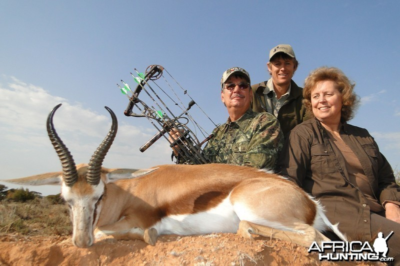 Springbok hunted with Wintershoek Johnny Vivier Safaris
