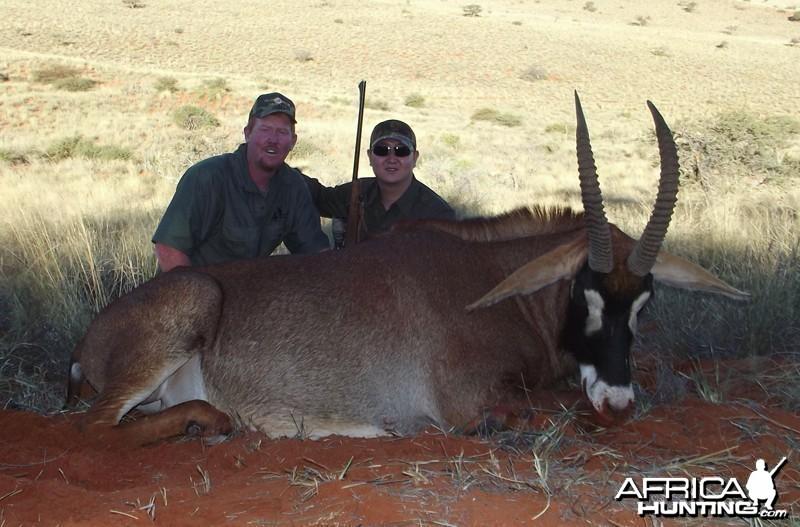 Roan hunted with Wintershoek Johnny Vivier Safaris