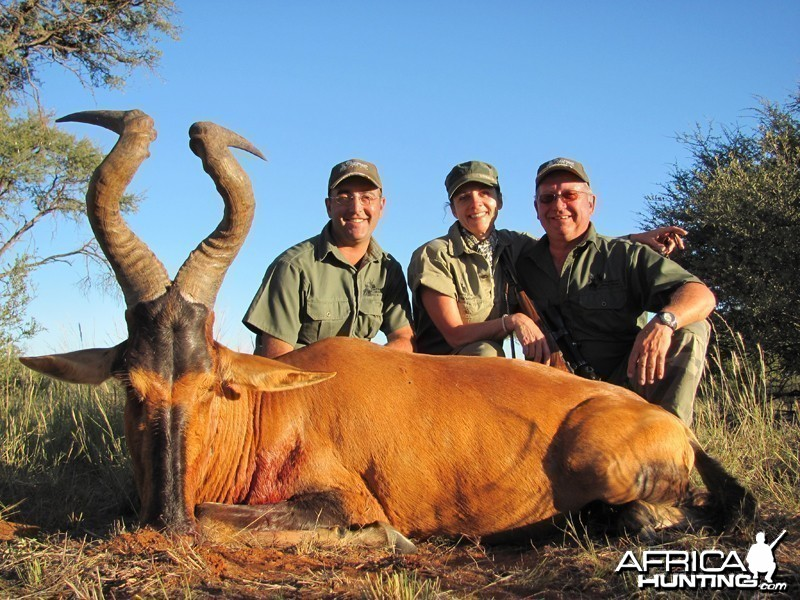 Red Hartebeest hunted with Wintershoek Johnny Vivier Safaris
