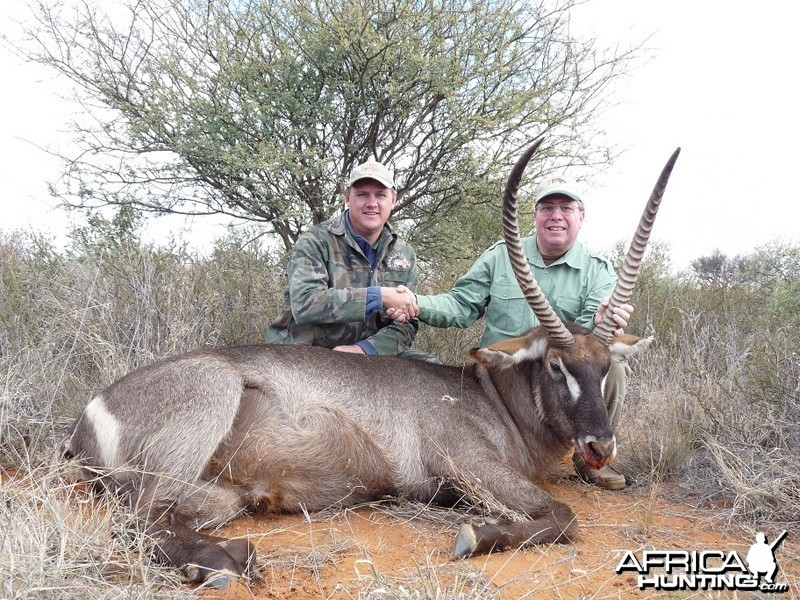 Waterbuck hunted with Wintershoek Johnny Vivier Safaris
