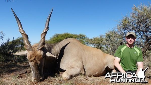 Eland hunted with Wintershoek Johnny Vivier Safaris