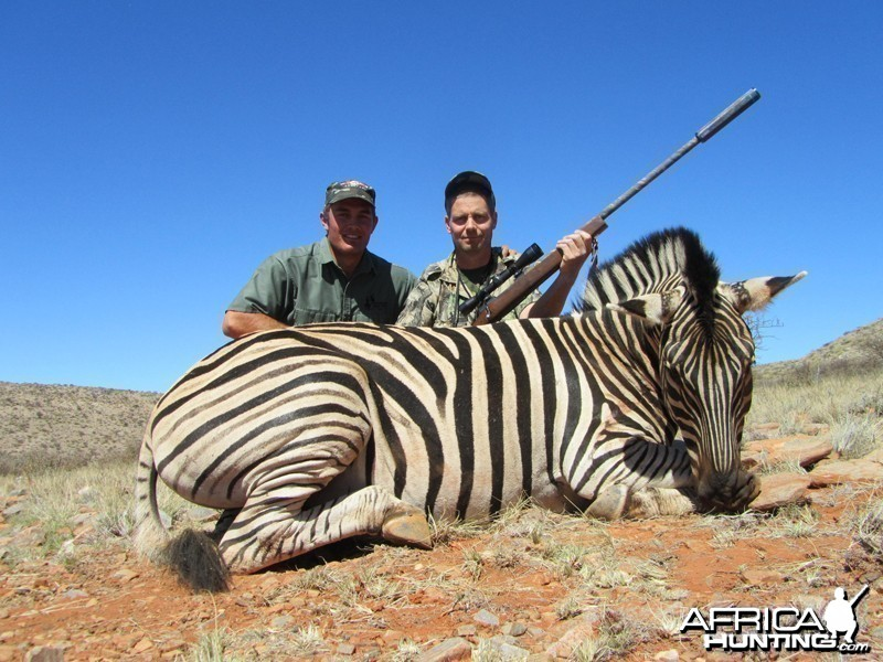 Burchell's Zebra hunted with Wintershoek Johnny Vivier Safaris