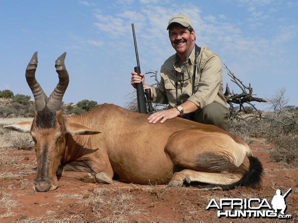 Red Hartebeest hunted with Wintershoek Johnny Vivier Safaris