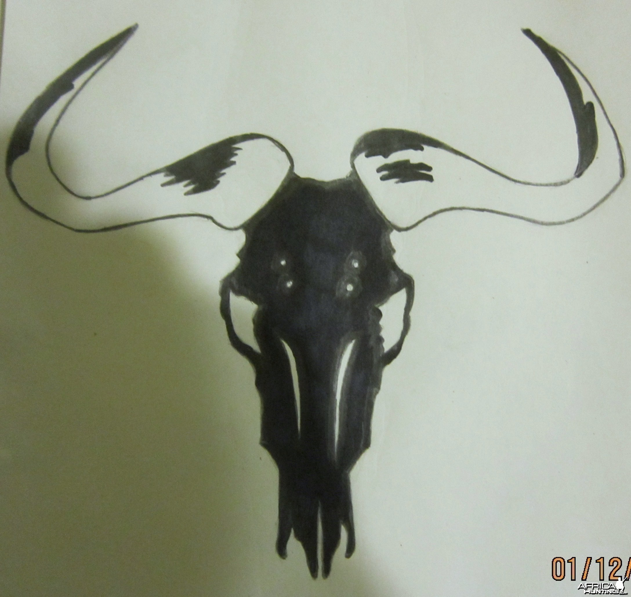African Hunting Decal Sticker