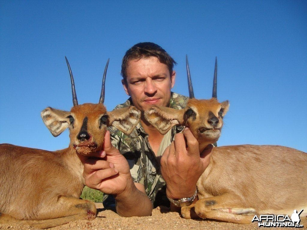 "4.5 and 5.25"" Steenbok pair"