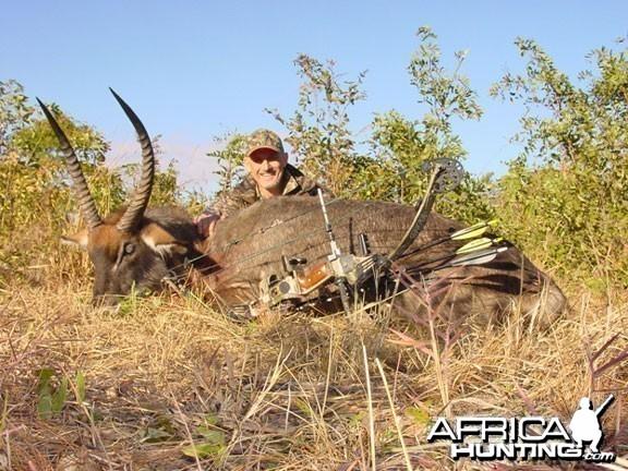 Crawshay's defassa waterbuck Zambia Bowhunting