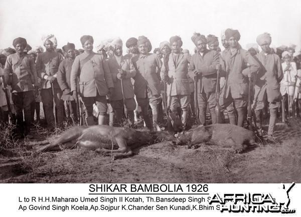 Hunting in Bambolia - 1926