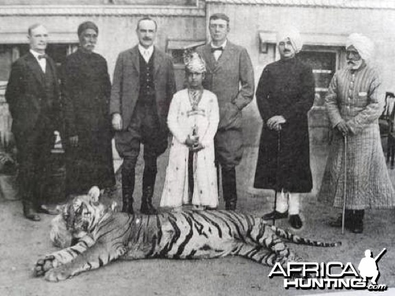Maharaja Jai Singh Of Jaipur with Tiger