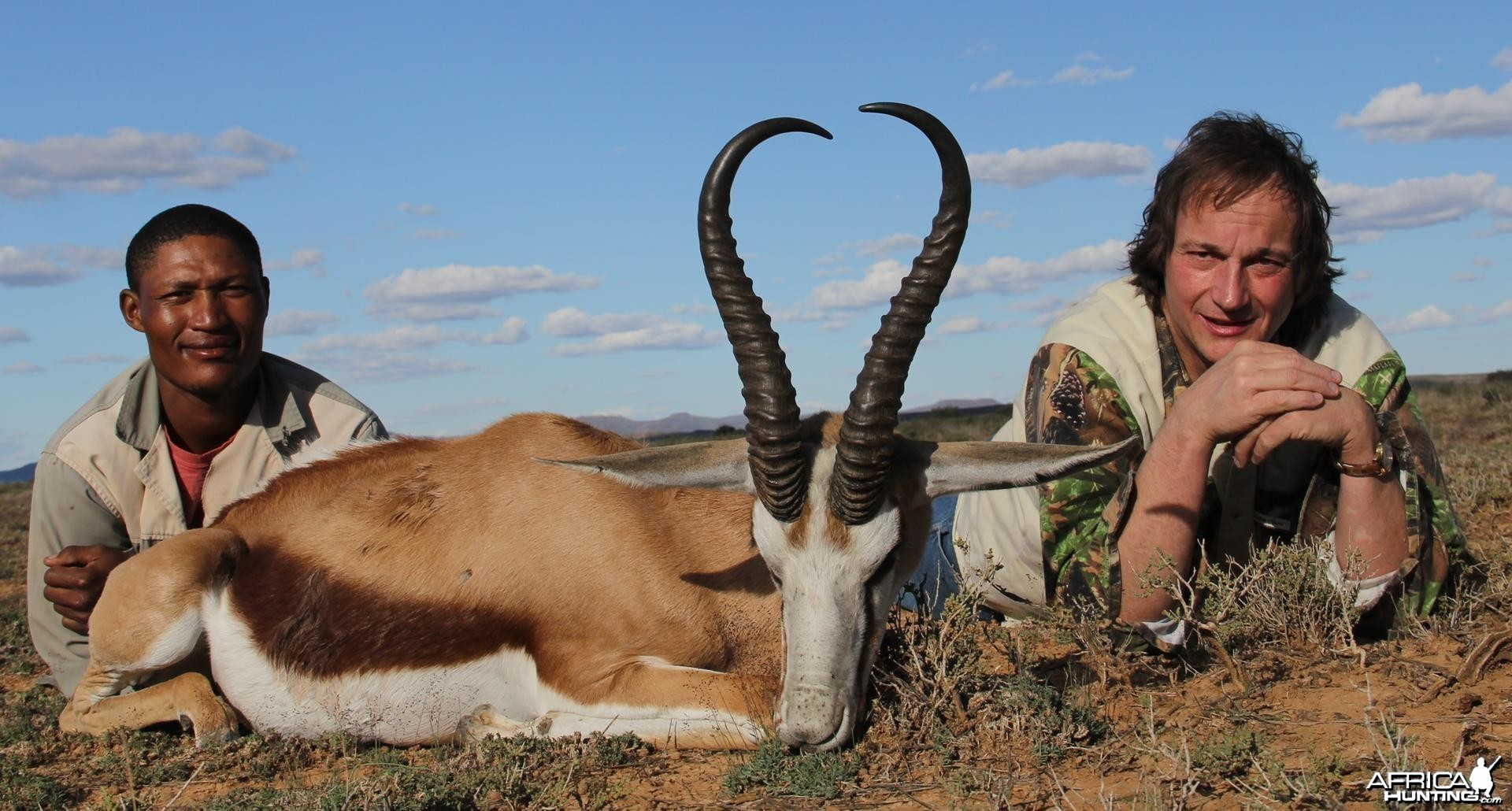 Springbok hunted with Jules of the Karoo