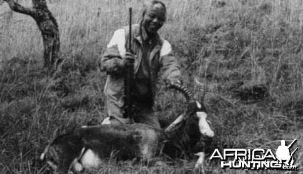 Nelson Mandela hunting Blesbok