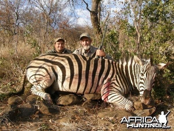 Hunting Burchell's Zebra