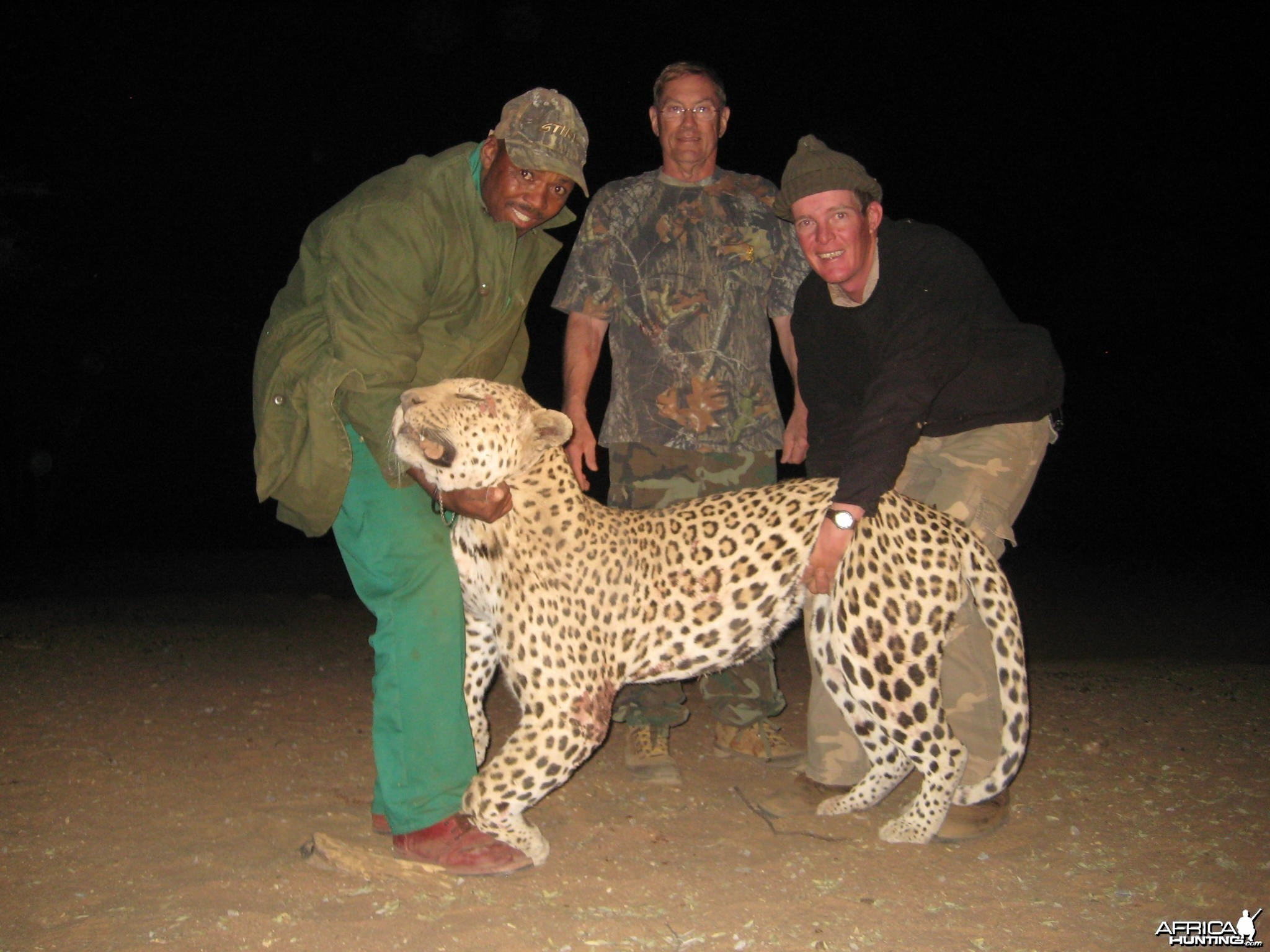 Leopard hunted with Ozondjahe Hunting Safaris Namibia