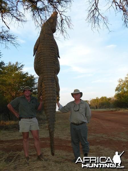 Croc hunt with Wintershoek Johnny Vivier Safaris