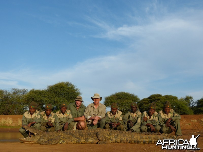 Croc hunt with Wintershoek Johnny Vivier Safaris