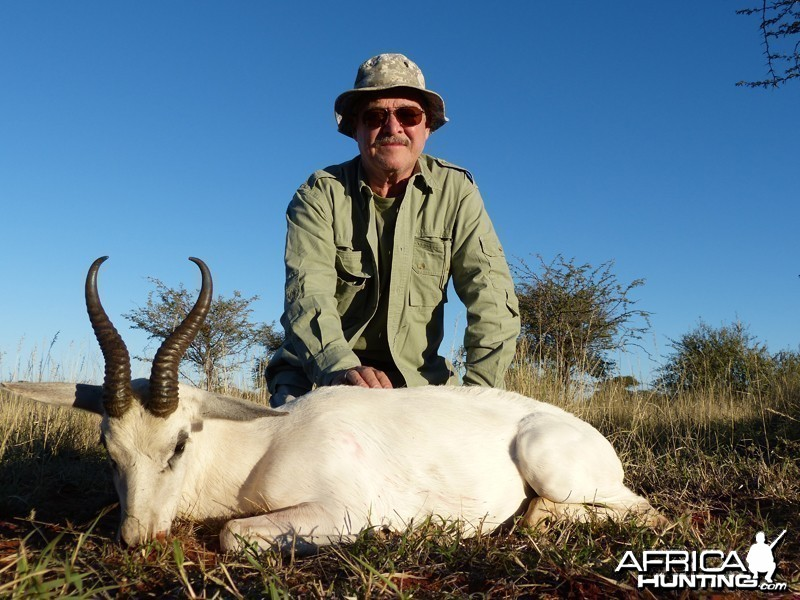 White Springbok hunt with Wintershoek Johnny Vivier Safaris