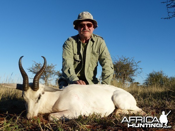 White Springbok hunt with Wintershoek Johnny Vivier Safaris