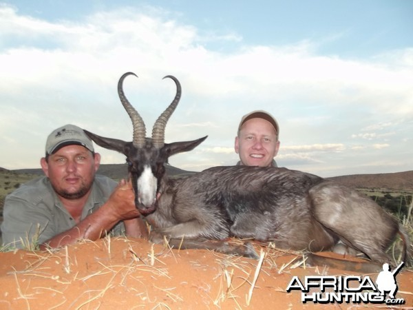 Black Springbok hunt with Wintershoek Johnny Vivier Safaris