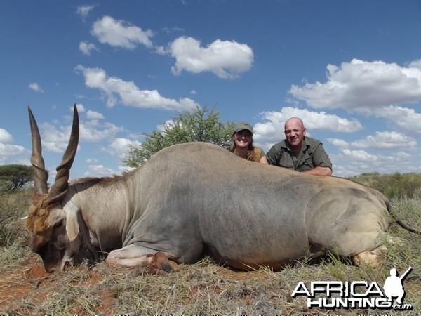 Eland hunt with Wintershoek Johnny Vivier Safaris