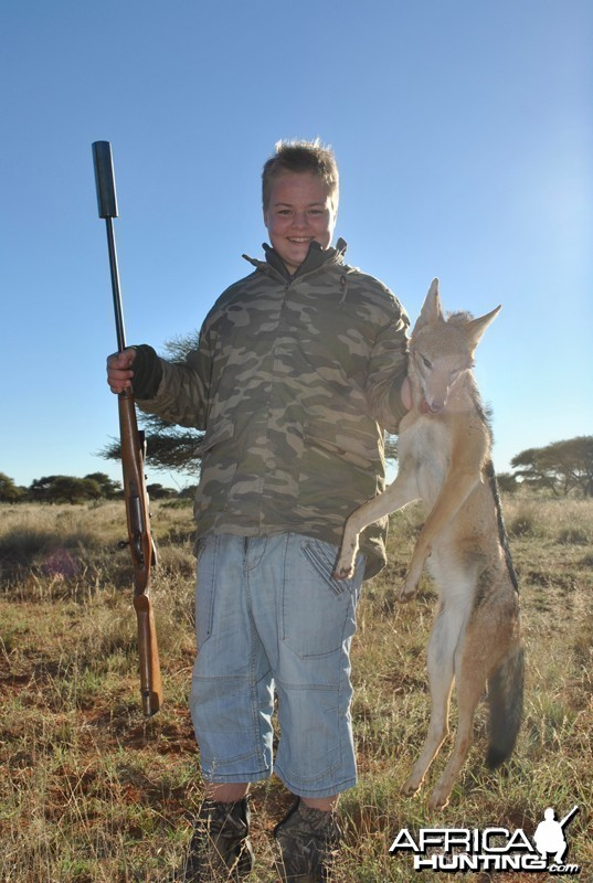 Jackal hunt with Wintershoek Johnny Vivier Safaris