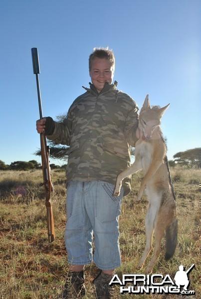 Jackal hunt with Wintershoek Johnny Vivier Safaris