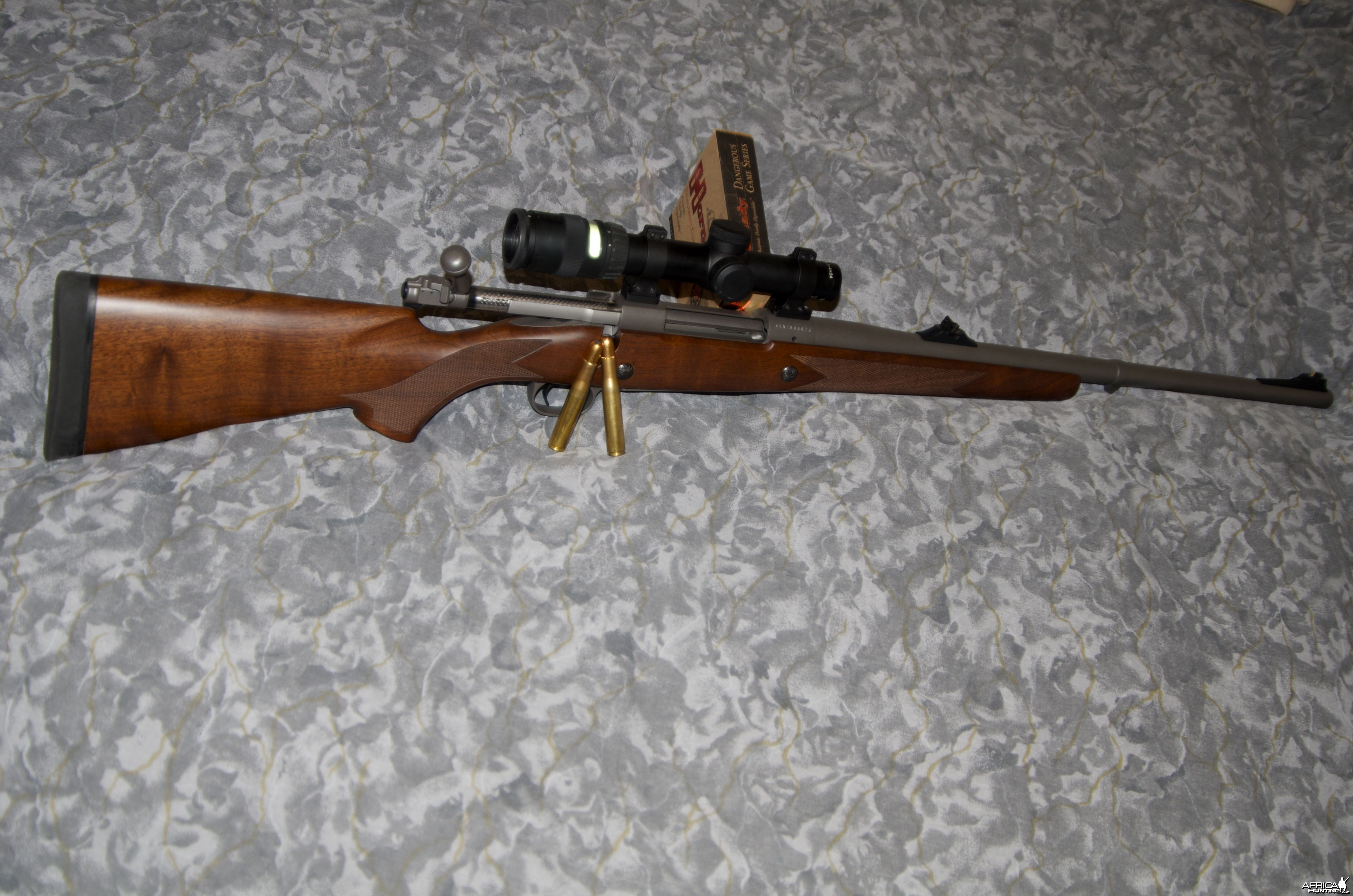 404 jeffery on a winchester 70 Safari (was a 416 Rem)
