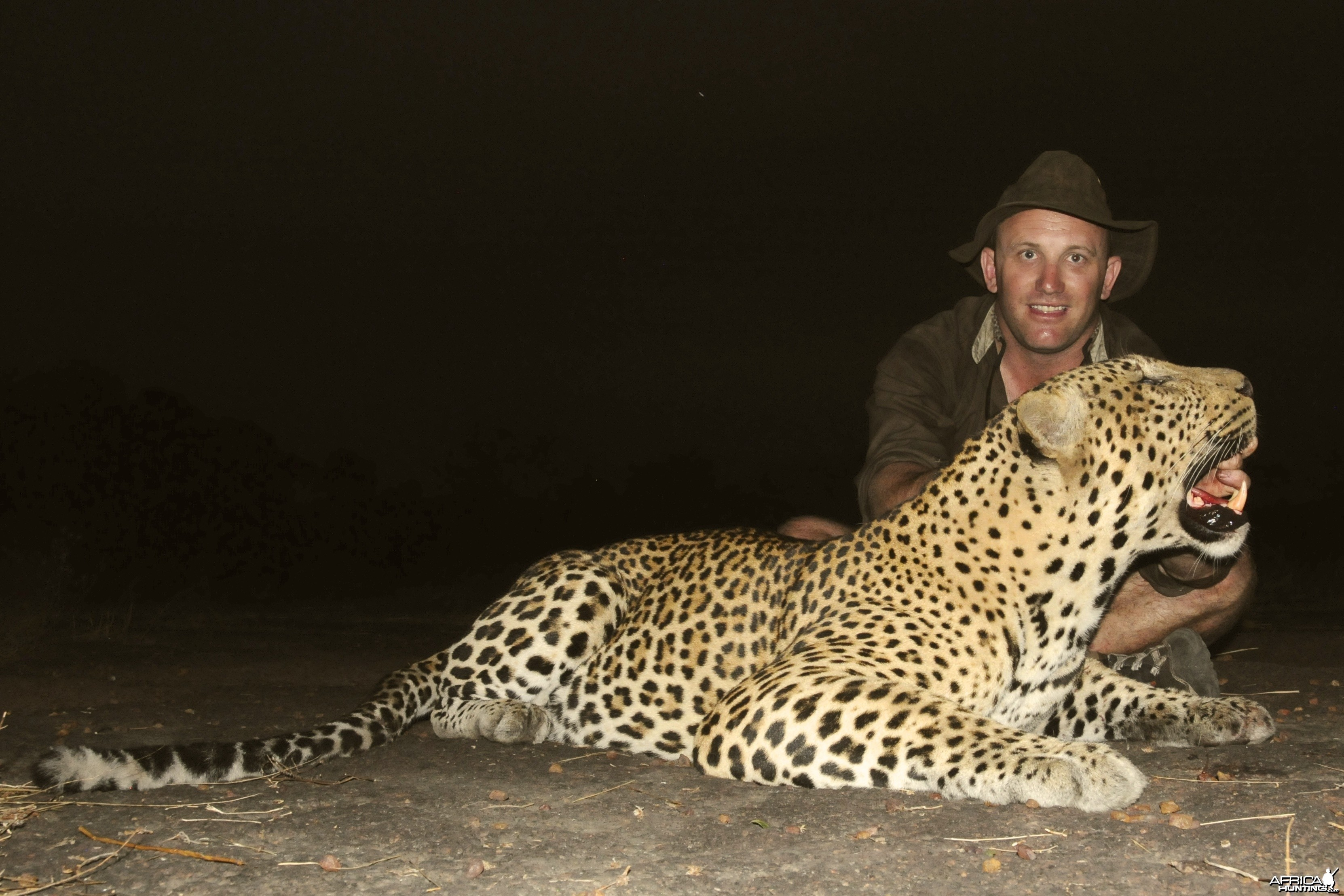 Leopard hunt with CAWA in CAR