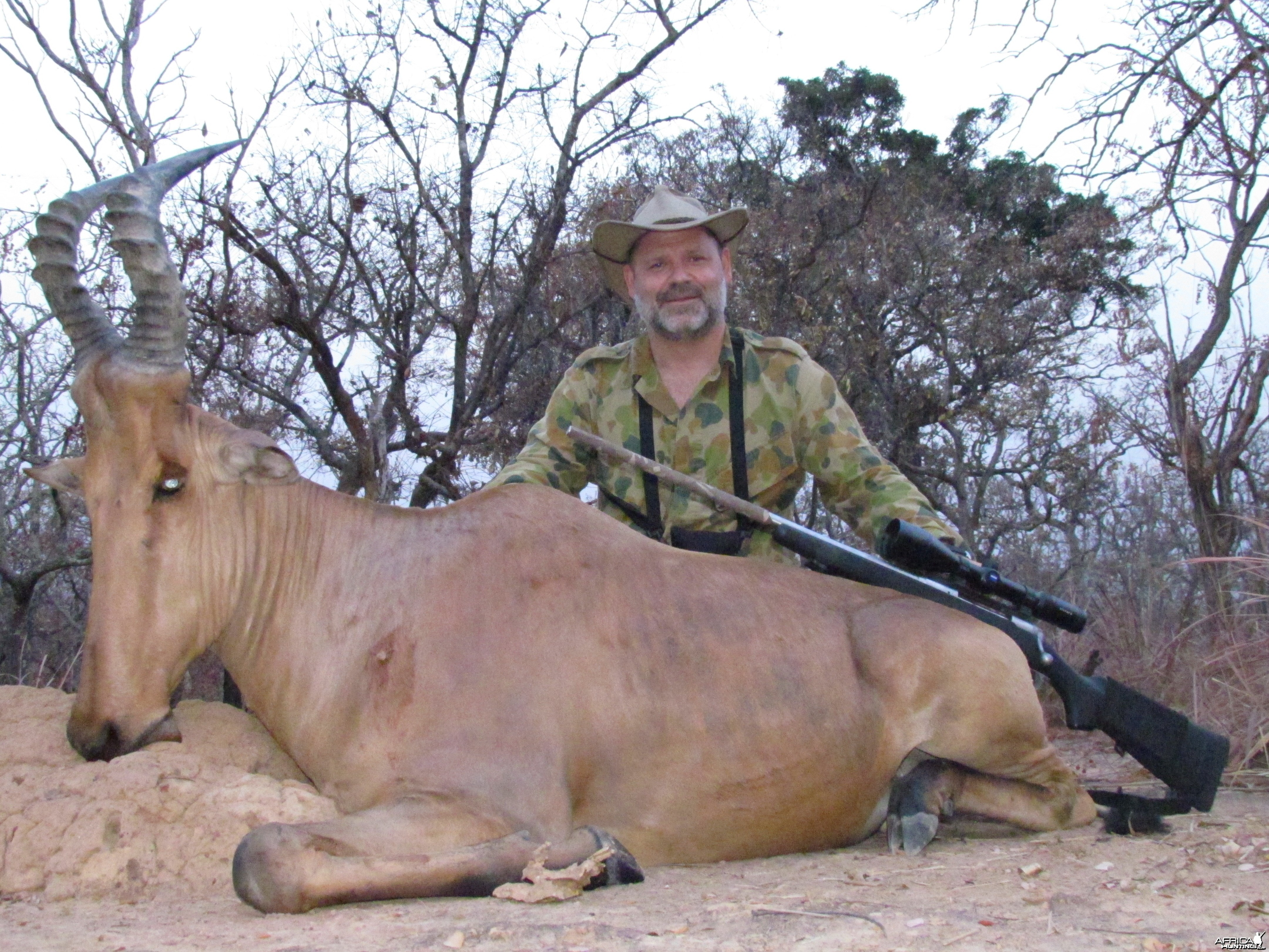 Lelwed Hartebeest hunt with CAWA in CAR