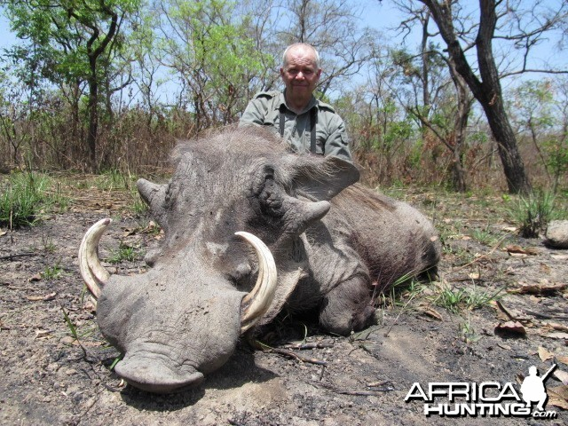 Warthog hunt with CAWA in CAR