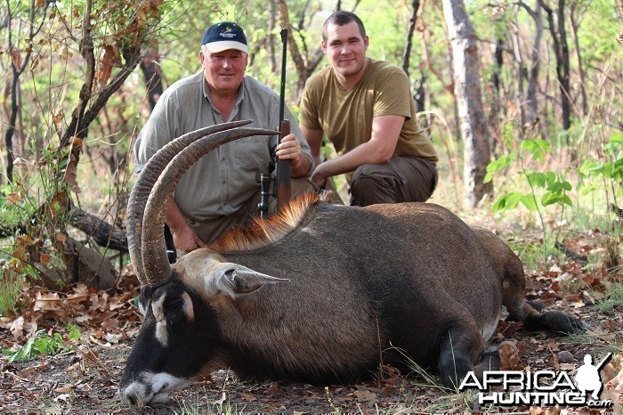 Roan Antelope hunt with CAWA in CAR