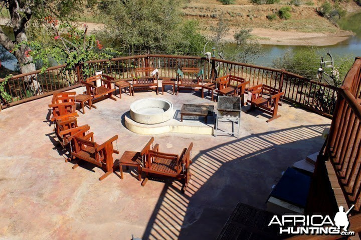 Firepit at Tolile Lodge