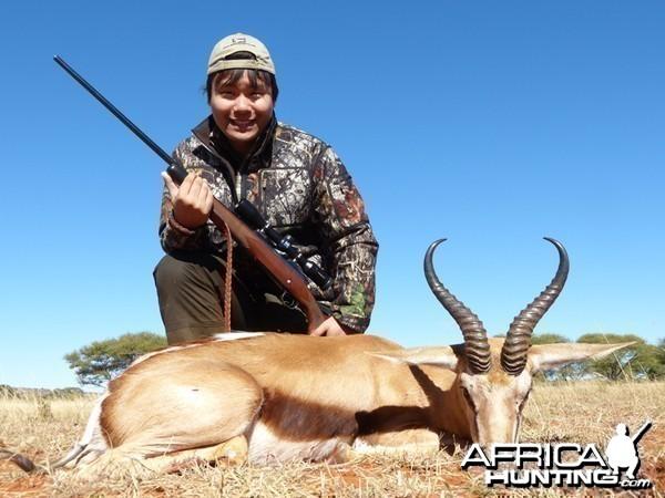 Springbok hunt with Wintershoek Johnny Vivier Safaris