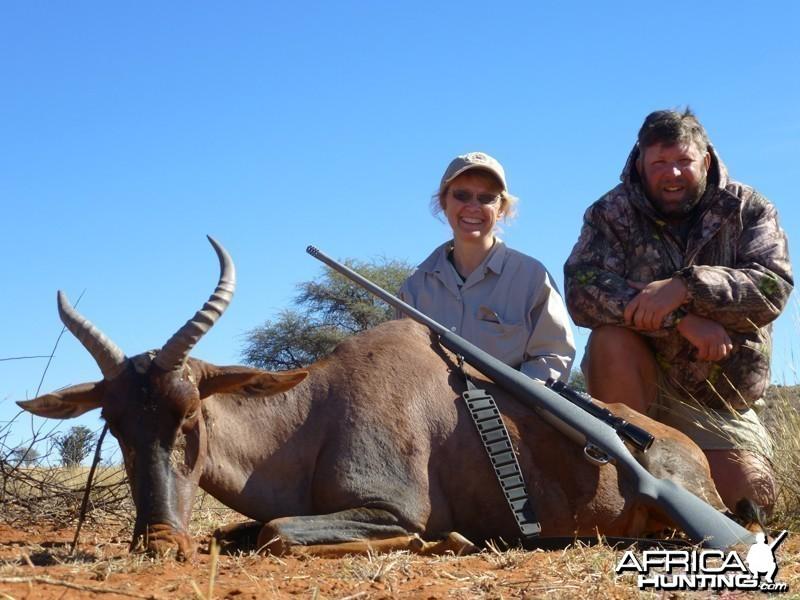 Tsessebe hunt with Wintershoek Johnny Vivier Safaris