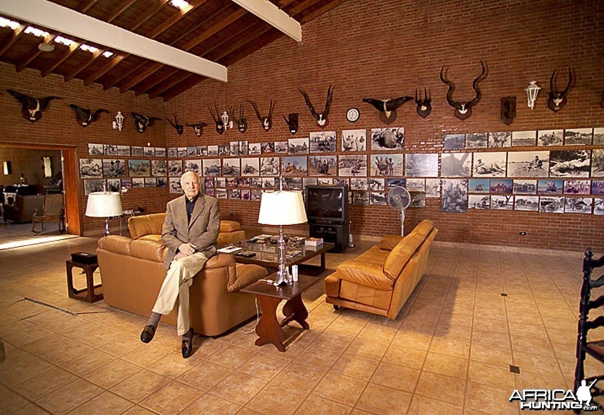 Jorge Alves de Lima in his trophy room